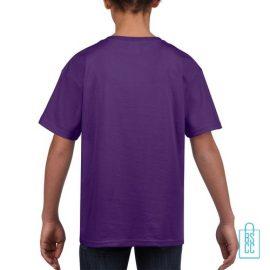 T-Shirt Kind Uni bedrukt paars