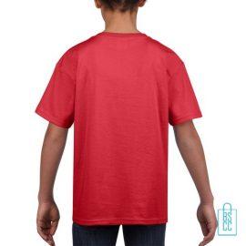 T-Shirt Kind Uni bedrukt rood