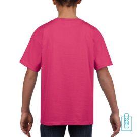 T-Shirt Kind Uni bedrukt roze
