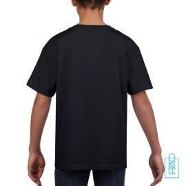 T-Shirt Kind Uni bedrukt zwart