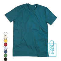 T-Shirt Mannen Cotton bedrukken groen