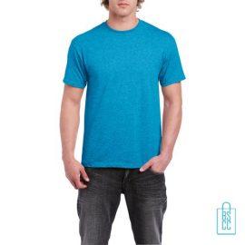 T-Shirt Mannen Budget bedrukken aqua