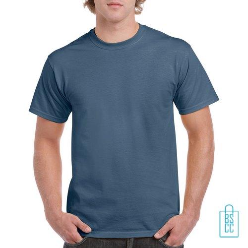 T-Shirt Mannen Budget bedrukken blauwgrijs