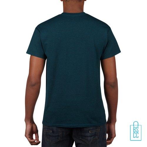 T-Shirt Mannen Budget bedrukken blauwgroen (1)
