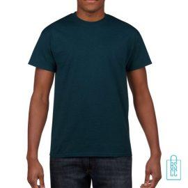 T-Shirt Mannen Budget bedrukken blauwgroen
