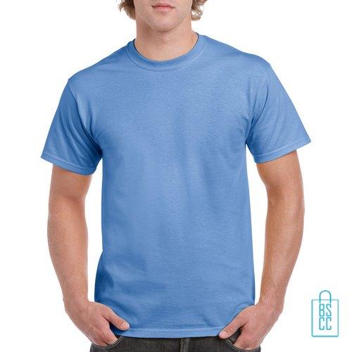 T-Shirt Mannen Budget bedrukken blauwpaars