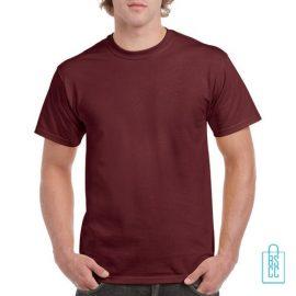 T-Shirt Mannen Budget bedrukken bordeaux