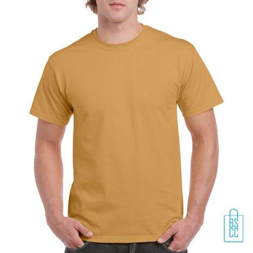T-Shirt Mannen Budget bedrukken camel