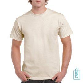T-Shirt Mannen Budget bedrukken creme