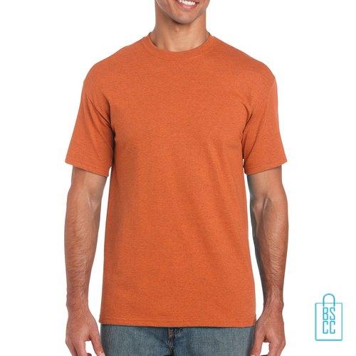 T-Shirt Mannen Budget bedrukken donker oranje