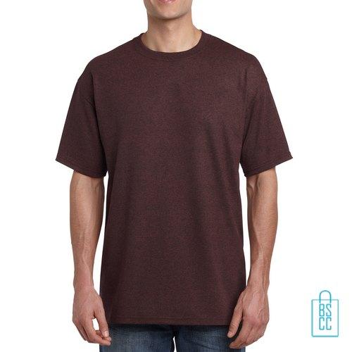 T-Shirt Mannen Budget bedrukken donkerbruin