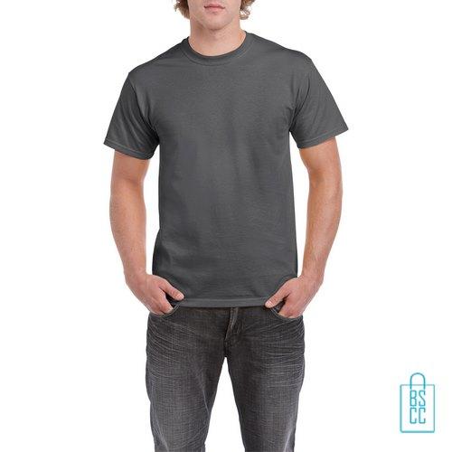 T-Shirt Mannen Budget bedrukken donkergrijs