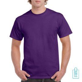T-Shirt Mannen Budget bedrukken donkerpaars