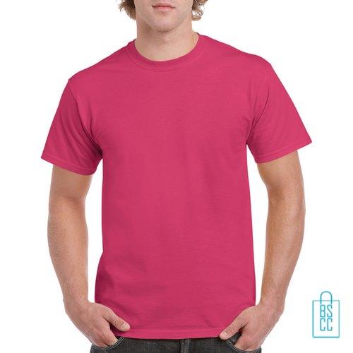 T-Shirt Mannen Budget bedrukken donkerroze