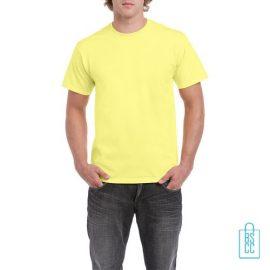 T-Shirt Mannen Budget bedrukken felgeel