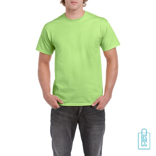 T-Shirt Mannen Budget bedrukken felgroen