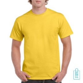 T-Shirt Mannen Budget bedrukken geel