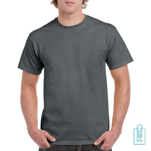 T-Shirt Mannen Budget bedrukken grijs