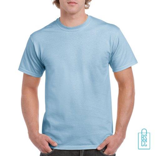 T-Shirt Mannen Budget bedrukken lichtblauw
