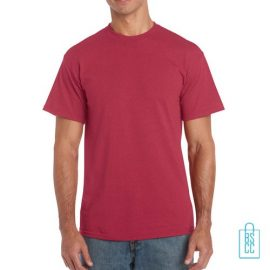 T-Shirt Mannen Budget bedrukken lichtrood