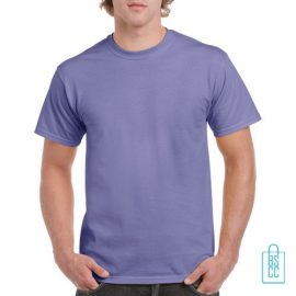 T-Shirt Mannen Budget bedrukken lila