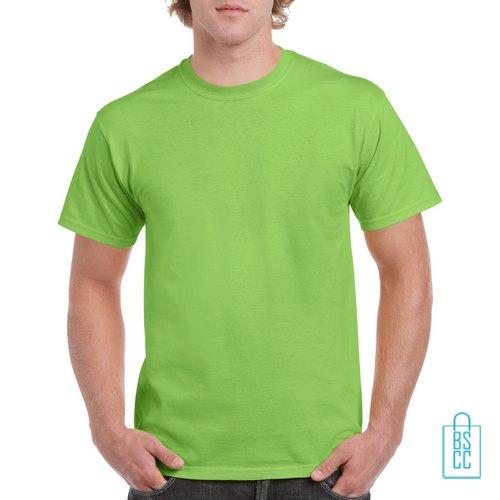 T-Shirt Mannen Budget bedrukken lime