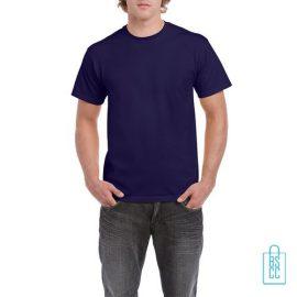 T-Shirt Mannen Budget bedrukken marineblauw