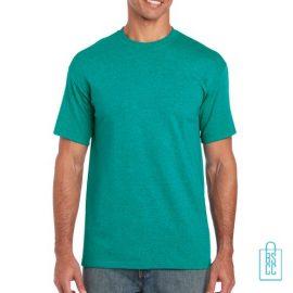 T-Shirt Mannen Budget bedrukken mintgroen