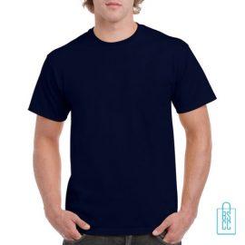 T-Shirt Mannen Budget bedrukken navy