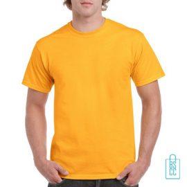 T-Shirt Mannen Budget bedrukken okergeel
