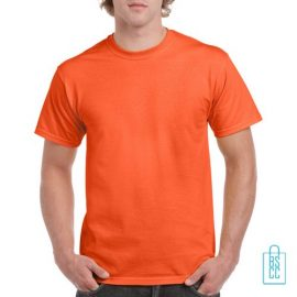 T-Shirt Mannen Budget bedrukken oranje