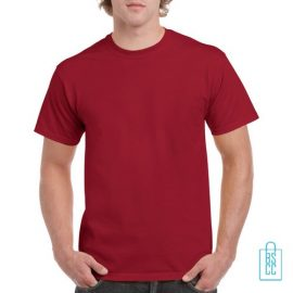 T-Shirt Mannen Budget bedrukken rood