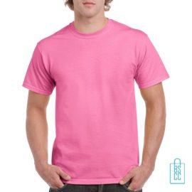 T-Shirt Mannen Budget bedrukken roze