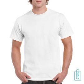 T-Shirt Mannen Budget bedrukken wit