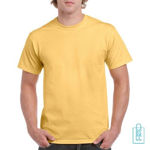 T-Shirt Mannen Budget bedrukken zachtgeel