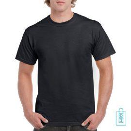 T-Shirt Mannen Budget bedrukken zwart