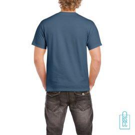 T-Shirt Mannen Budget bedrukt blauwgrijs