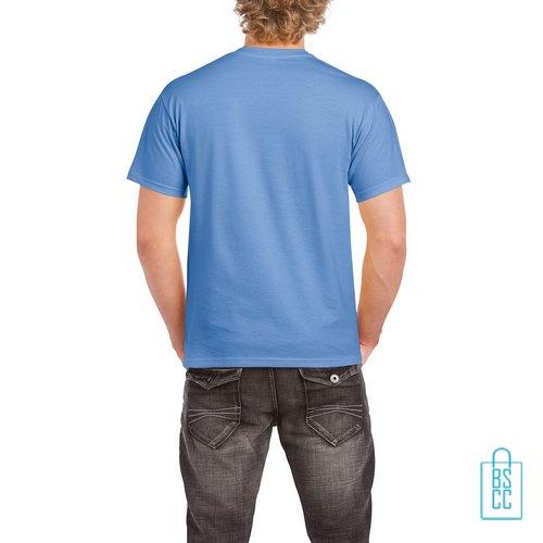 T-Shirt Mannen Budget bedrukt blauwpaars