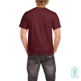 T-Shirt Mannen Budget bedrukt bordeaux