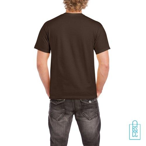 T-Shirt Mannen Budget bedrukt bruin