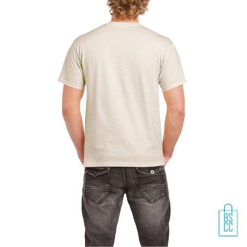 T-Shirt Mannen Budget bedrukt creme