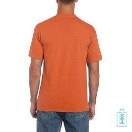 T-Shirt Mannen Budget bedrukt donker oranje