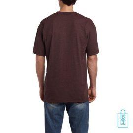 T-Shirt Mannen Budget bedrukt donkerbruin