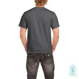 T-Shirt Mannen Budget bedrukt donkergrijs