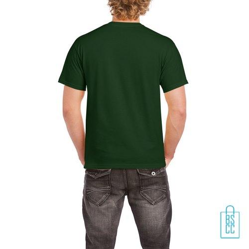 T-Shirt Mannen Budget bedrukt donkergroen