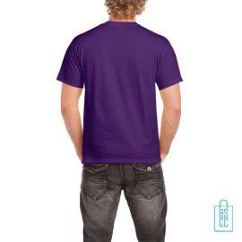 T-Shirt Mannen Budget bedrukt donkerpaars