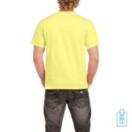 T-Shirt Mannen Budget bedrukt felgeel