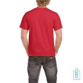 T-Shirt Mannen Budget bedrukt felrood