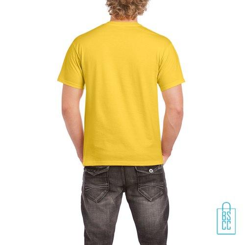 T-Shirt Mannen Budget bedrukt geel