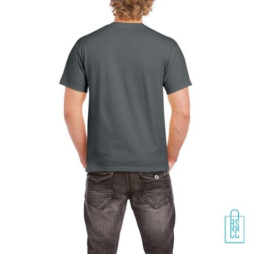 T-Shirt Mannen Budget bedrukt grijs